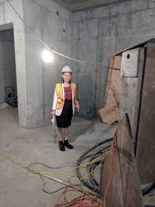 Here is Szuchi Lee, our Executive Director doing a tour of our new building!
