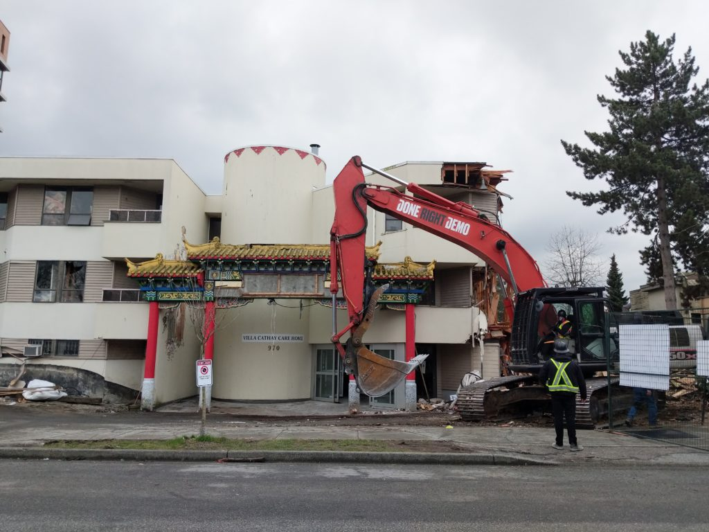 Iconic Chinese Gate at Villa Cathay Being Taken Down in Strathcona, Vancouver
