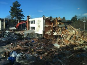 Demolition of Senior Care Home in Phase 2 of Rejuvenation Project