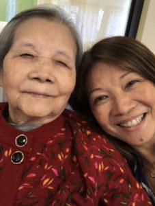 Francisca and Mom, Elena at Villa Cathay in 2019