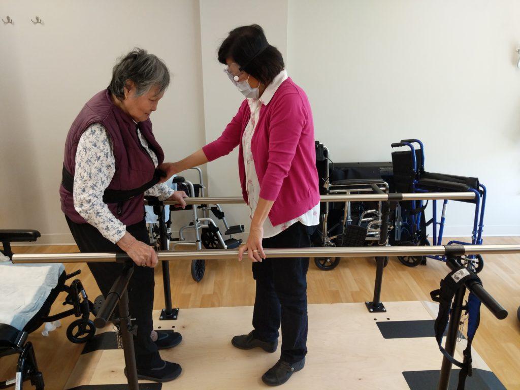 Physiotherapist Exercising With Senior