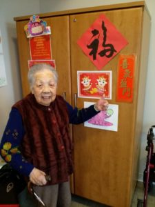 Resident celebrates Chinese New Year