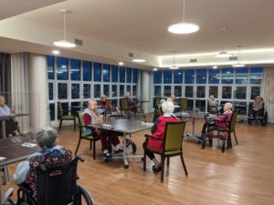 Residents dining together